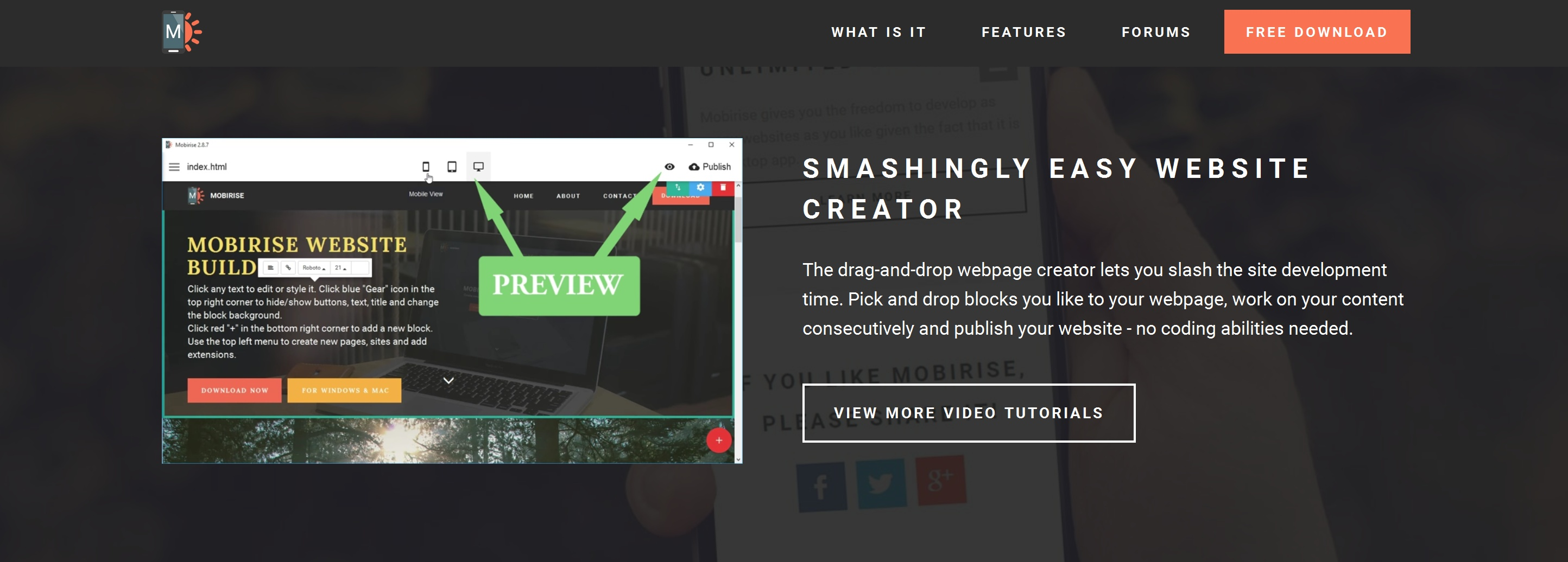 Drag and Drop Easy Website Builder Tool