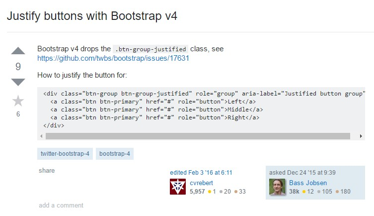 Justify buttons  using Bootstrap v4