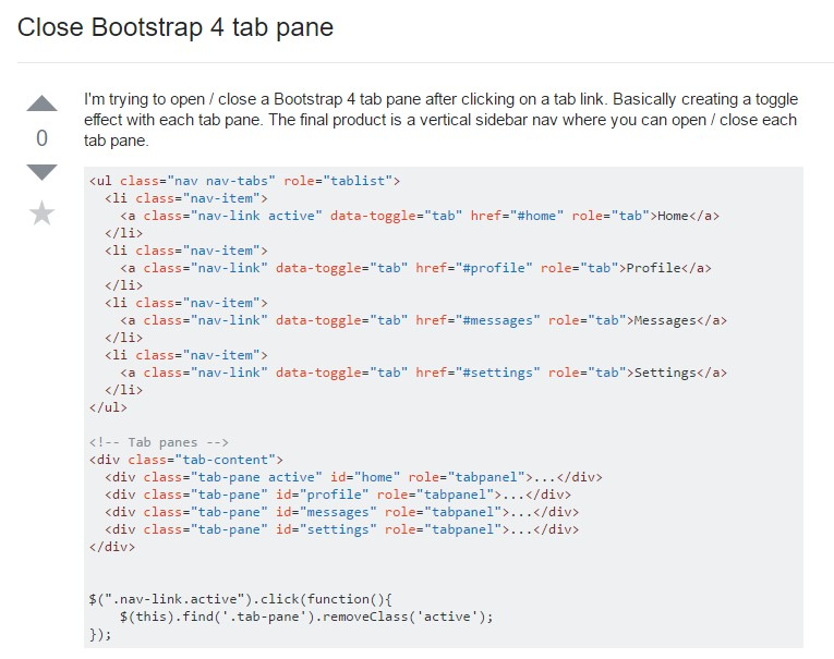 Tips on how to close Bootstrap 4 tab pane