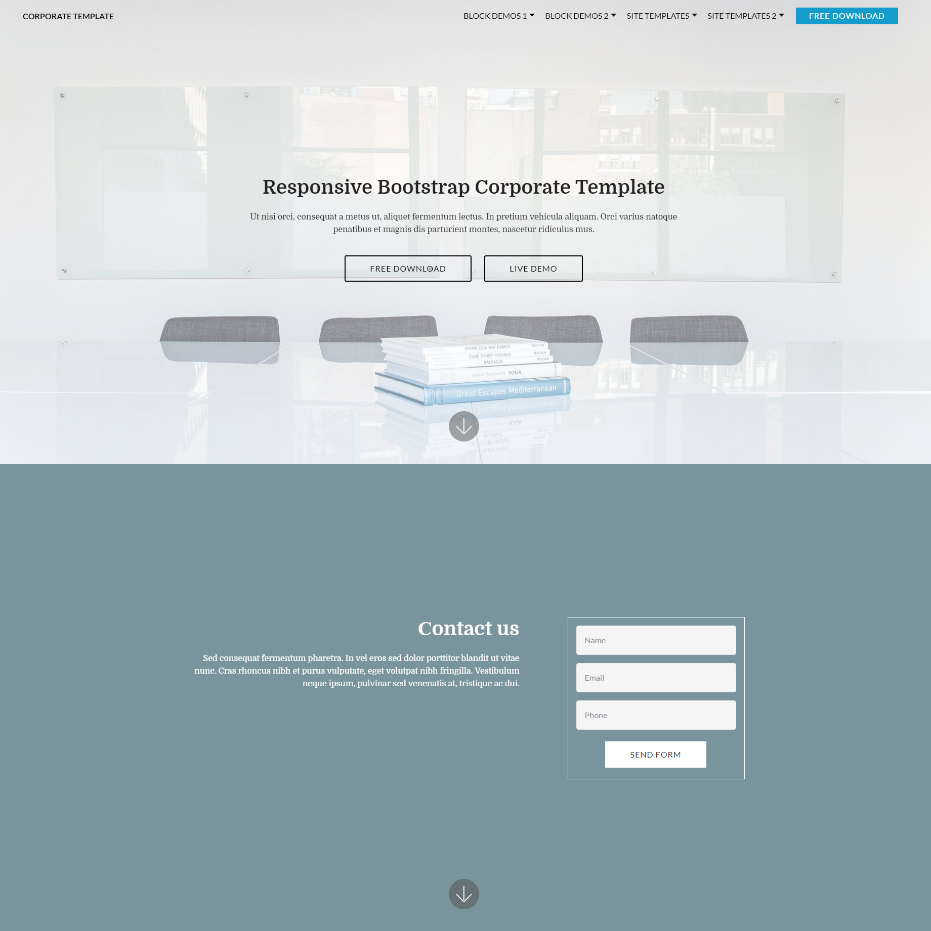Responsive Bootstrap Corporate Templates
