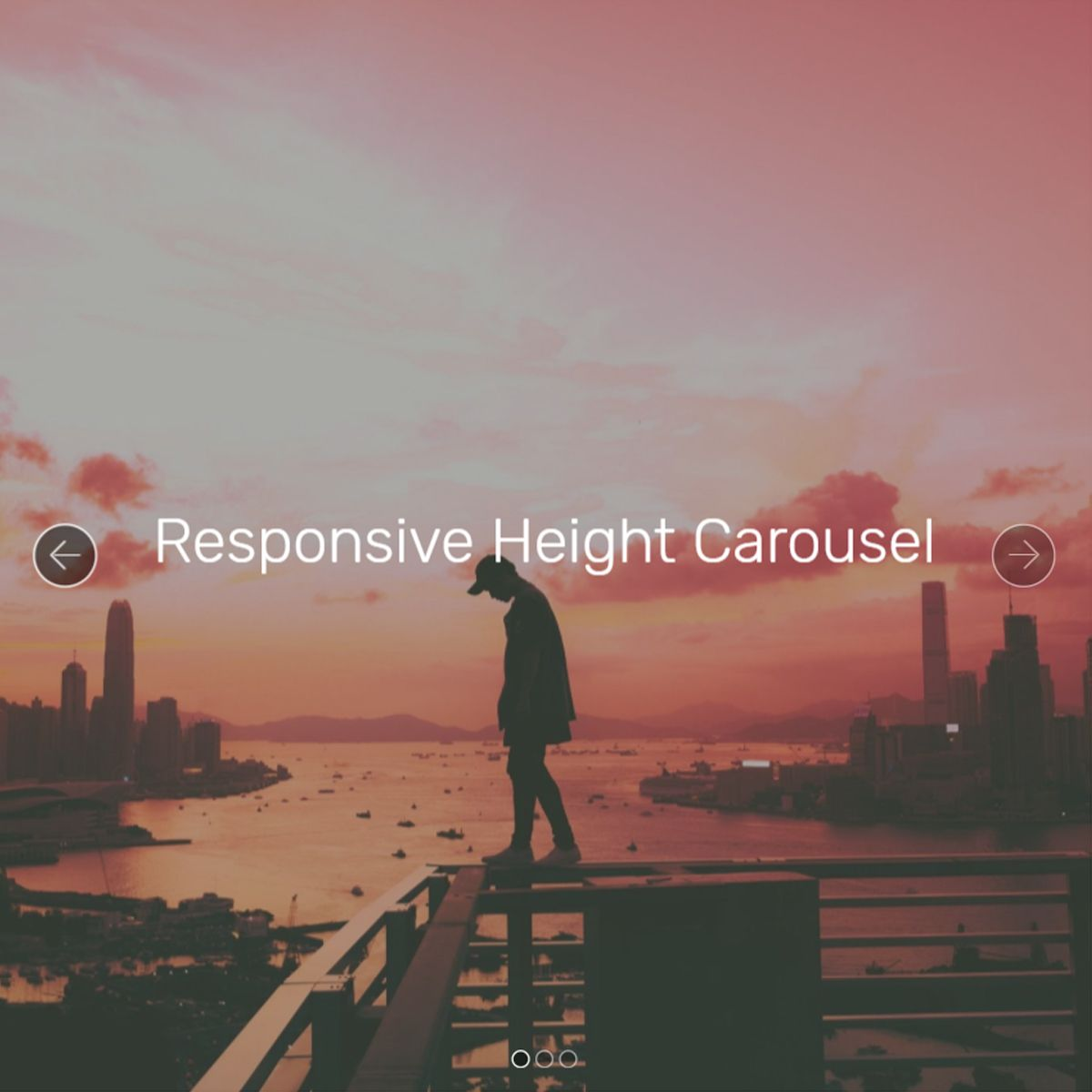 Responsive Bootstrap Illustration Slideshow