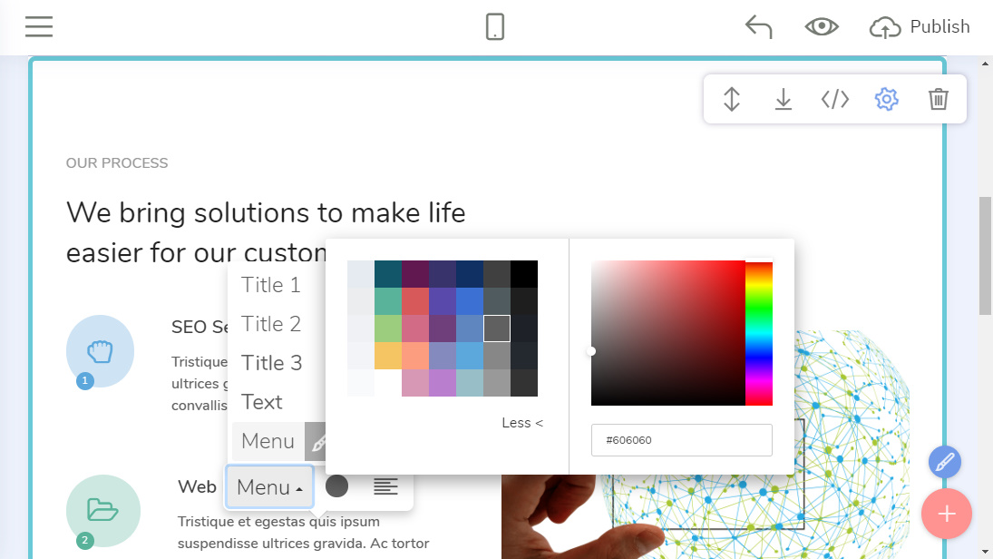 HTML Web Page Builder